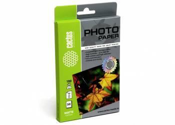 Фотобумага Cactus (CS-MA619050) 10x15 / 190г / м2 / 50л. белый