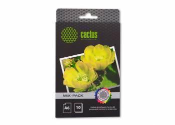 Фотобумага Cactus (CS-MIXPACKА6) A6 / 21л. белый