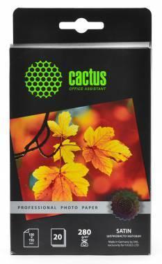 Фотобумага Cactus Prof (CS-SMA628020) 10x15 / 280г / м2 / 20л. белый