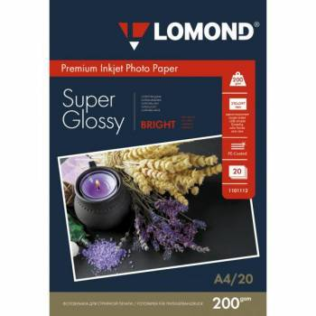Фотобумага Lomond (1101112) A4 / 200г / м2 / 20л. белый