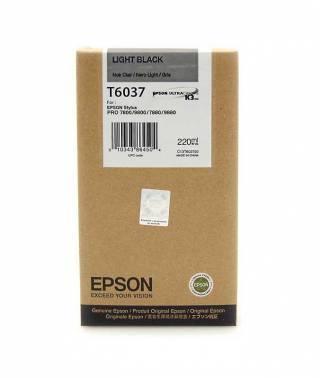 Картридж струйный Epson T6037 серый (C13T603700)