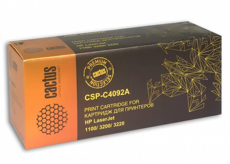 Тонер Картридж Cactus CSP-C4092A PREMIUM черный - фото 1