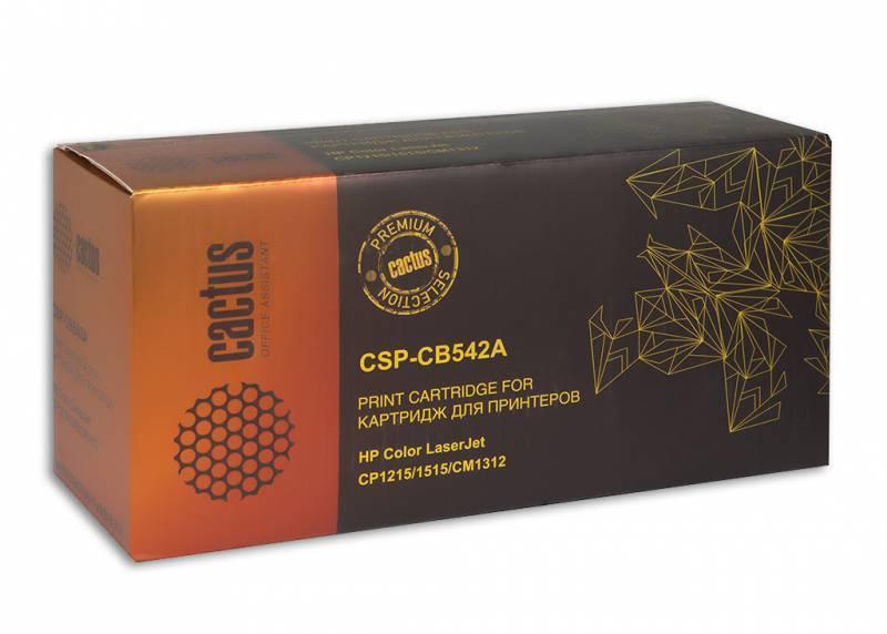 Тонер Картридж Cactus CSP-CB542A PREMIUM желтый - фото 1