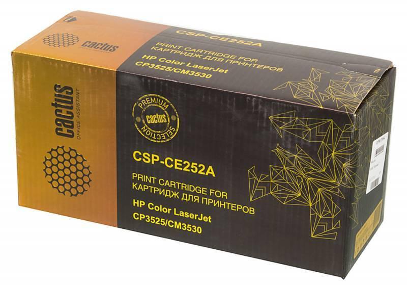 Тонер Картридж Cactus CSP-CE252A PREMIUM желтый - фото 1