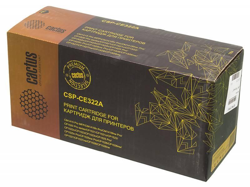 Тонер Картридж Cactus CSP-CE322A PREMIUM желтый - фото 1