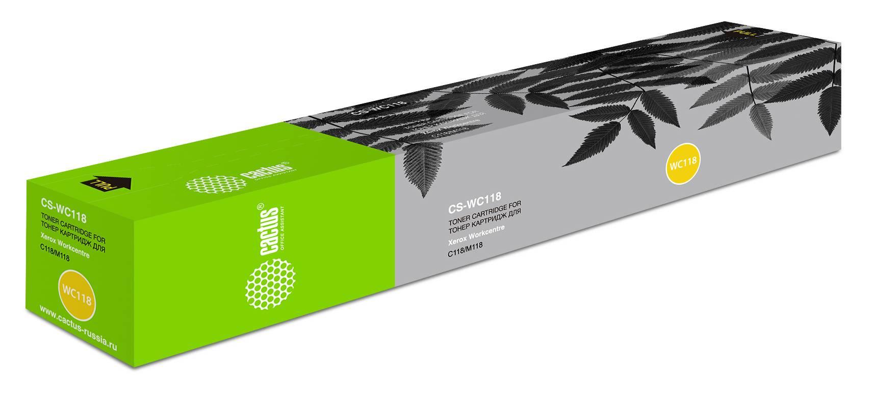 Тонер Картридж Cactus CS-WC118 006R01179 черный - фото 1