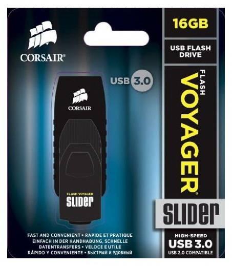 Флеш диск Corsair Voyager Slider 16ГБ USB3.0 черный - фото 3