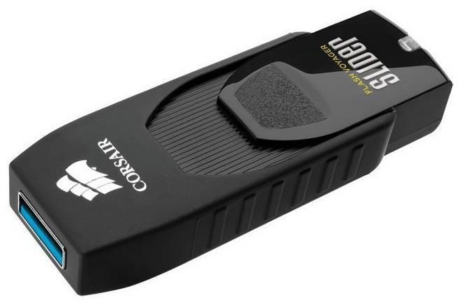Флеш диск 64Gb Corsair Voyager Slider USB3.0 черный - фото 1