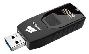 Флеш диск 64Gb Corsair Voyager Slider USB3.0 черный - фото 2