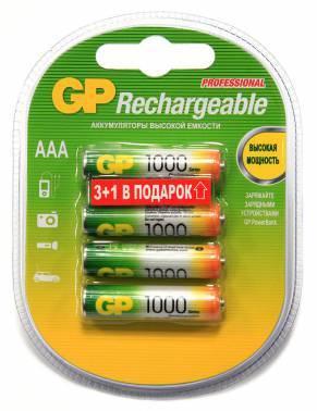 Аккумулятор AAA GP 100AAAHC3 / 1 (4шт)