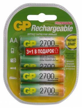 Аккумулятор AA GP 270AAHC3/1, в комплекте 4шт. (GP 270AAHC3/1-2CR4)