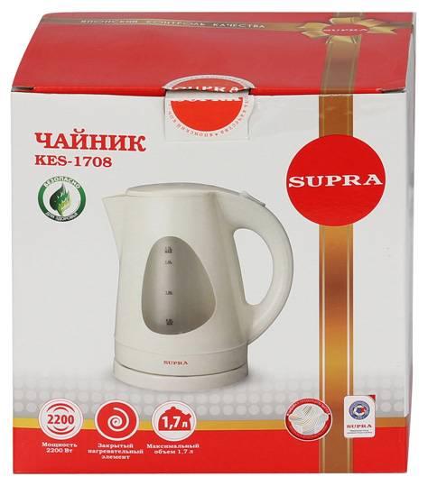 Чайник электрический Supra KES-1708 белый/фисташковый (5131) - фото 6