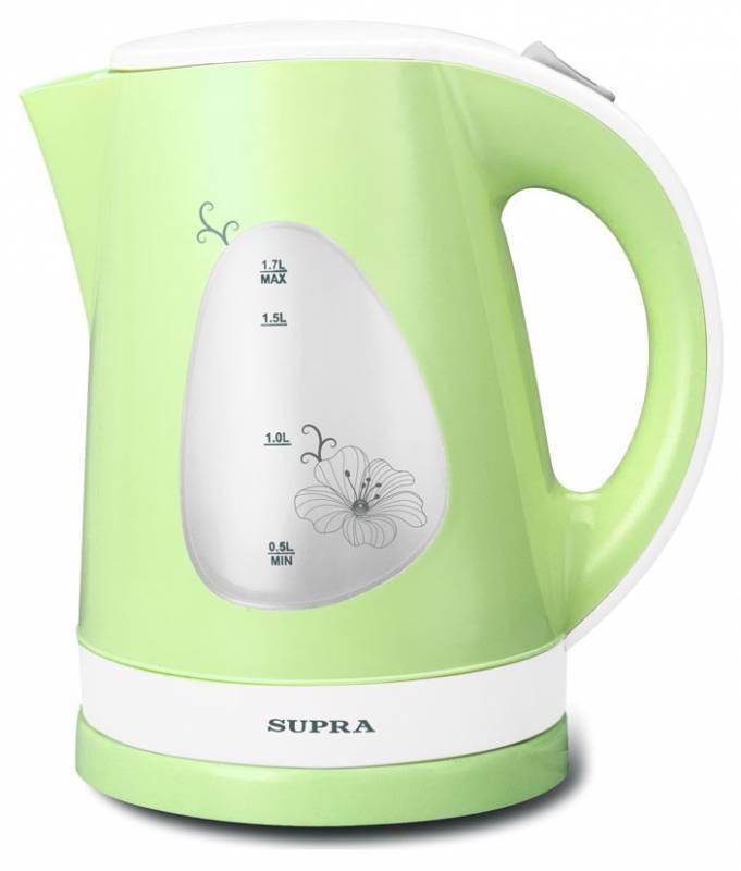 Чайник электрический Supra KES-1708 белый/фисташковый (5131) - фото 1