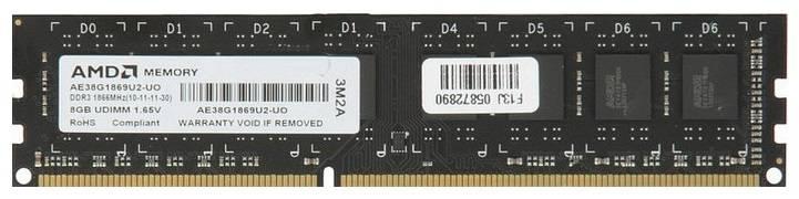Модуль памяти DIMM DDR3 8Gb AMD R738G1869U2S/-US - фото 1