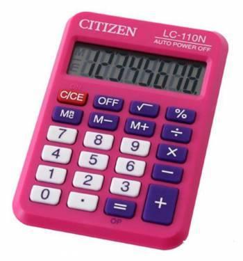 Калькулятор карманный Citizen Cool4School LC-110NPK розовый (LC-110NPKCFS)