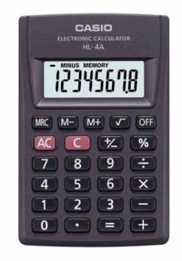 Калькулятор карманный Casio HL-4A черный