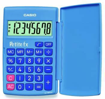 Калькулятор Casio LC-401LV-BU голубой 8-разр.