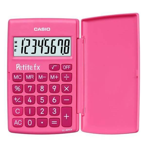 Калькулятор карманный Casio LC-401LV-PK розовый - фото 1