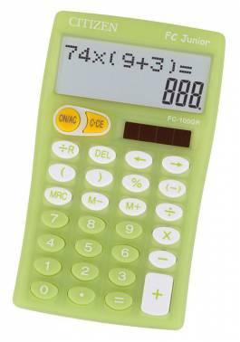 Калькулятор Citizen FC-100GR зеленый 10-разр.