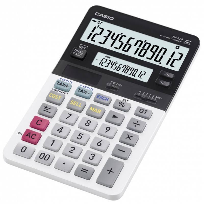 Калькулятор настольный Casio JV-220-S-EH белый 12-разр. - фото 1