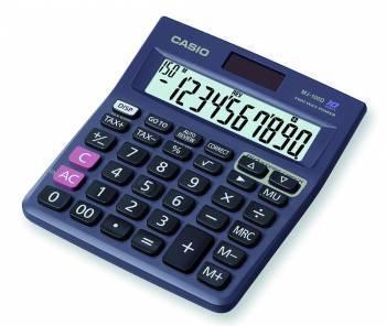 Калькулятор Casio MJ-100D-S-EH черный 10-разр.