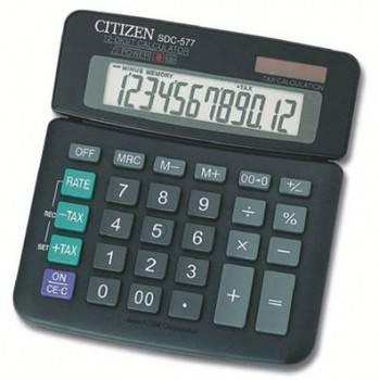 Калькулятор Citizen SDC-577III черный 12-разр.