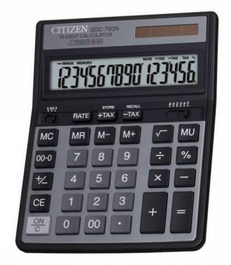 Калькулятор настольный Citizen SDC-760N черный (SDC760N)