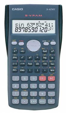 Калькулятор Casio FX-82MS серый 10-разр.