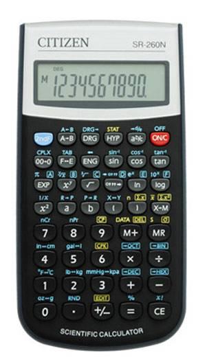 Калькулятор научный Citizen SR-260N черный 12-разр. - фото 1