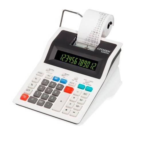 Калькулятор с печатью Citizen 520DPA белый 12-разр. - фото 1