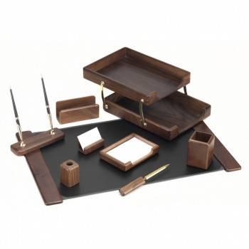 Настольный набор Good Sunrise T9D-1 коричневый 9 предметов