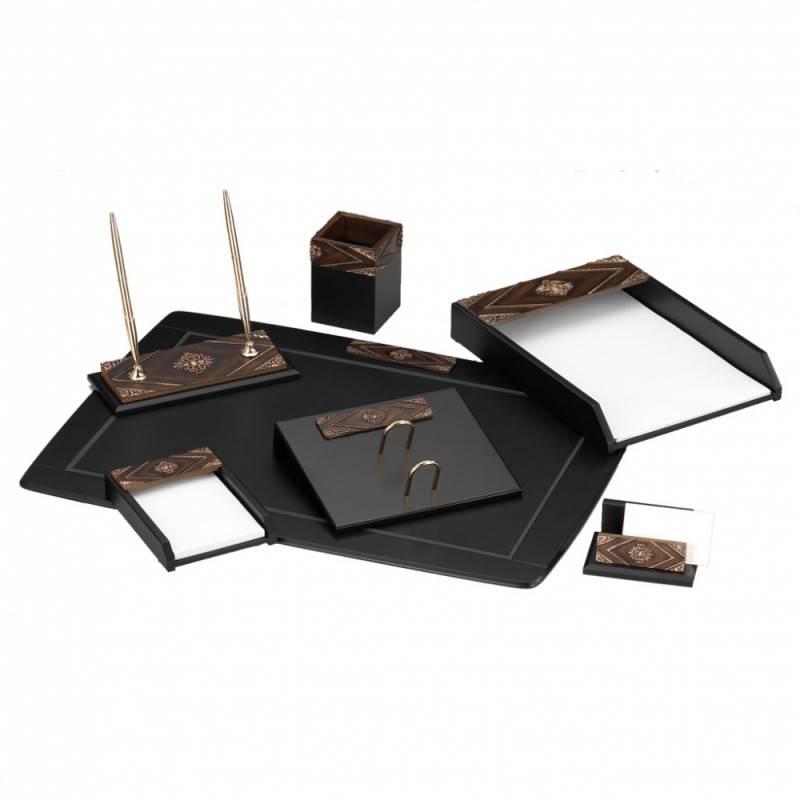Настольный набор Good Sunrise W6AQ-1/C черный/коричневый 7 предметов - фото 1