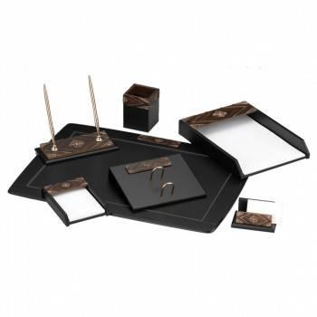 Настольный набор Good Sunrise W6AQ-1 / C (7 предметов) черный / коричневый