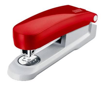 Степлер Novus E20 красный/серый - фото 1