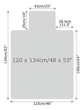 Коврик напольный Floortex FC1213419LR с выступом для паркета/ламината Поликарбонат 120.134см - фото 2