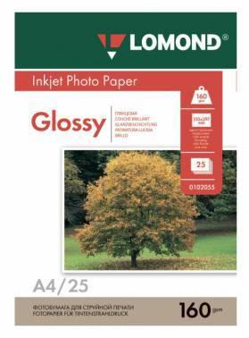 Фотобумага Lomond 0102079 A4 160г/м2 25л. белый