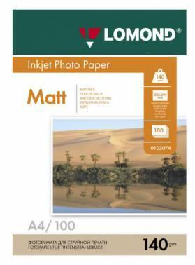 Бумага Lomond 0102074 A4 140г/м2 100л. белый