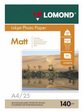 Бумага Lomond 0102073 A4 140г/м2 25л. белый