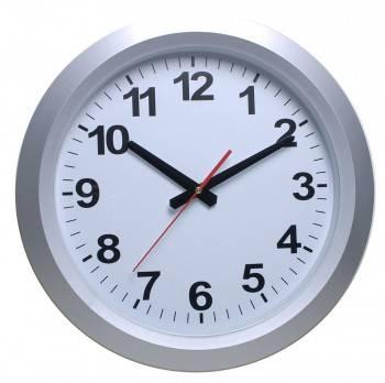 Настенные часы Бюрократ WallC-R010P серебристый (WALLC-R010P/SILVER)
