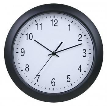 Настенные часы Бюрократ WallC-R02P черный (WALLC-R02P/BLACK)