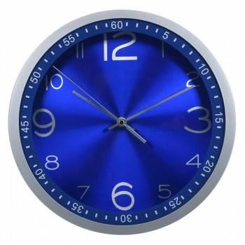 Настенные часы Бюрократ WallC-R05P аналоговые синий