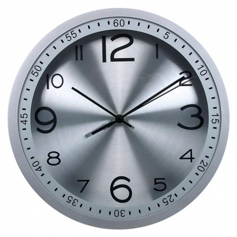 Настенные часы Бюрократ WallC-R05P серебристый (WALLC-R05P/SILVER) - фото 1