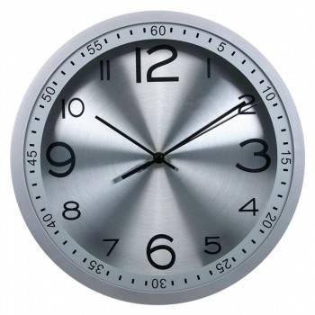 Настенные часы Бюрократ WallC-R05P аналоговые серебристый