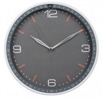 Настенные часы Бюрократ WallC-R06P серый (WALLC-R06P/GRAY)
