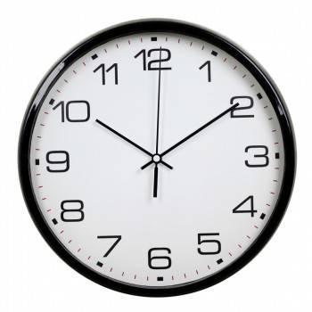 Настенные часы Бюрократ WallC-R07P черный (WALLC-R07P/BLACK)