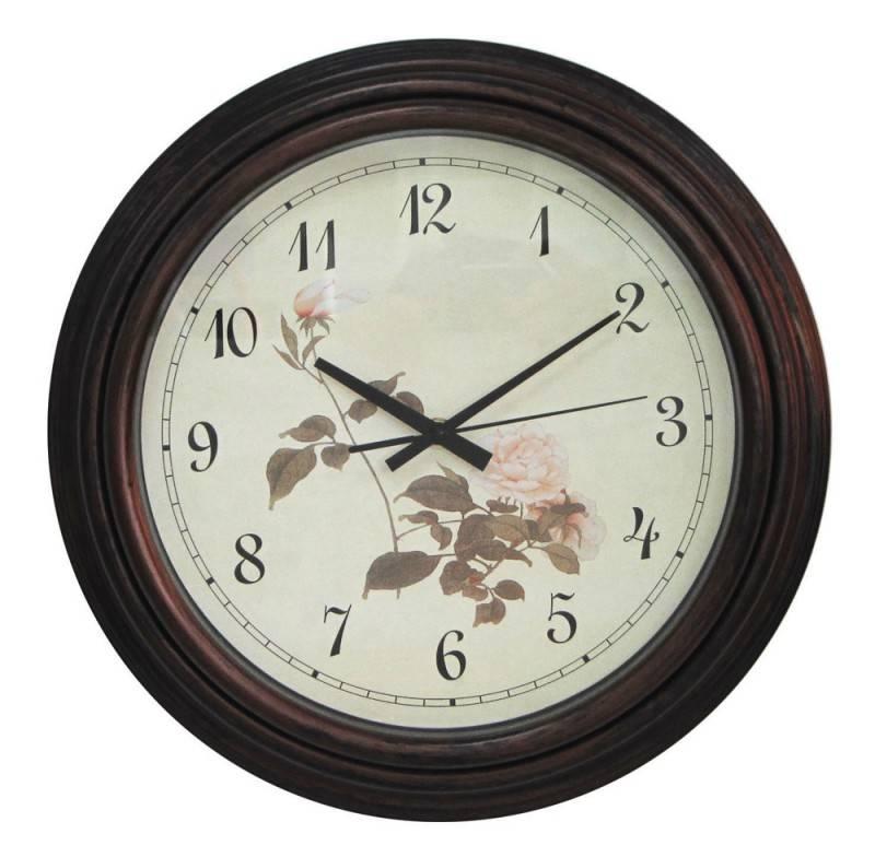 Настенные часы Бюрократ WallC-R56P аналоговые коричневый - фото 1