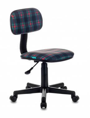 Кресло детское Бюрократ CH-201NX/53-11, цвет обивки: коричневый клетка шотландка 53-11, ткань, крестовина пластиковая