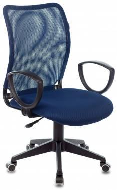Кресло Бюрократ CH-599 / DB / TW-10N темно-синий