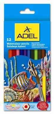 Карандаши цветные акварельные Adel Aquacolor 12цв. (216-2610-000)