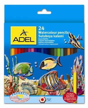 Карандаши цветные акварельные Adel Aquacolor 24цв. (216-2660-000)